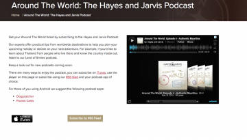 Around The World The Hayes and Jarvis Podcast