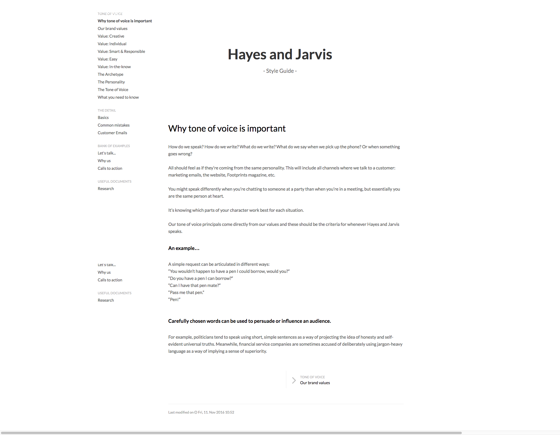 Content Guidelines Hayes and Jarvis Style Guide
