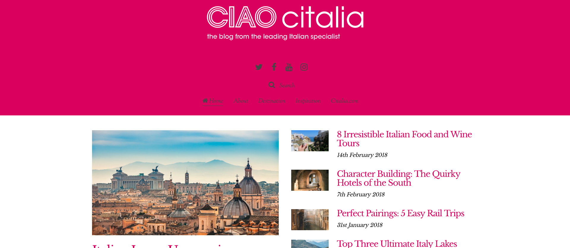 New Ciao Citalia Blog Alex Sparasci